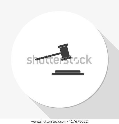 Hammer judge icon. - stock vector