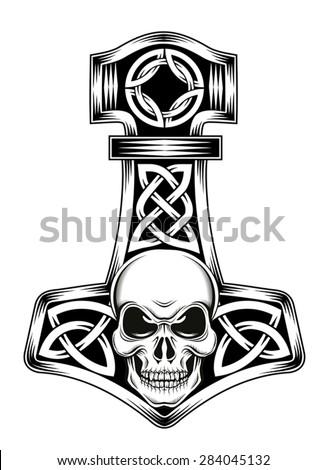 Hammer Thor Medieval Viking Symbol Stock Vector 2018 284045132