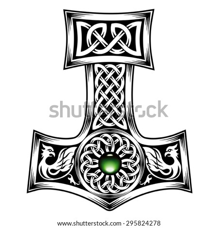 hammer thor medieval viking symbol stock vector 295824278. Black Bedroom Furniture Sets. Home Design Ideas