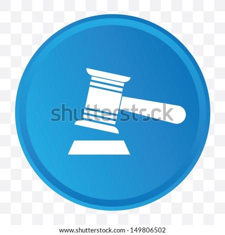 Hammer symbol,vector - stock vector