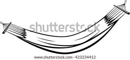 hammock - stock vector