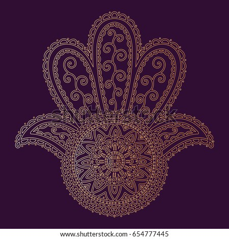 Hamsa Hand Fatima Protection Amulet Devil Stock Vector Royalty Free