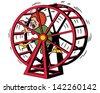 Hamster Wheel - stock vector