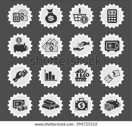 hand and money web icons for user interface design - stock vector