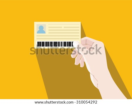 hand card  vector illustration