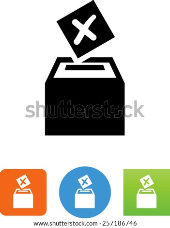 Hand casting a vote symbol. Great symbol representing elections or auctions. Vector icons for video, mobile apps, Web sites and print projects.  - stock vector