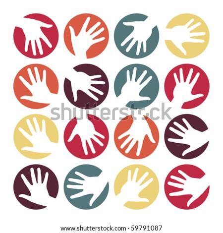 Hand circles design. - stock vector