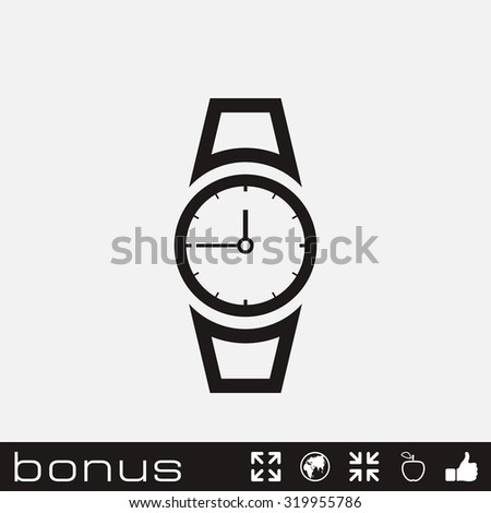 hand clock icon - stock vector