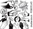 Hand Collection - stock vector