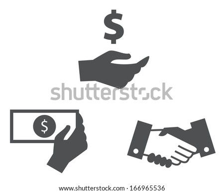 Hand Collection Symbol - stock vector