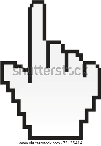 hand cursor eps10 - stock vector
