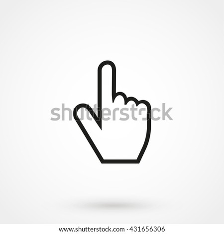 Hand cursor icon isolated on background. Modern flat pictogram, business, marketing, internet concept. Trendy Simple vector symbol for web site design or button to mobile app. Logo illustration - stock vector