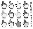 hand cursors (arrow cursors in my gallery) - stock photo