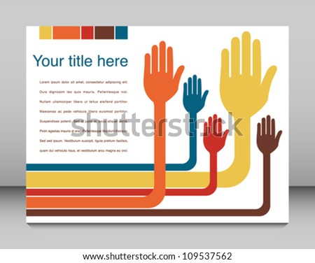 Hand design with copy space vector. - stock vector