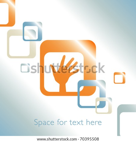 Hand design with space for text. - stock vector