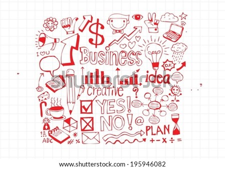 hand doodle Business doodles - stock vector