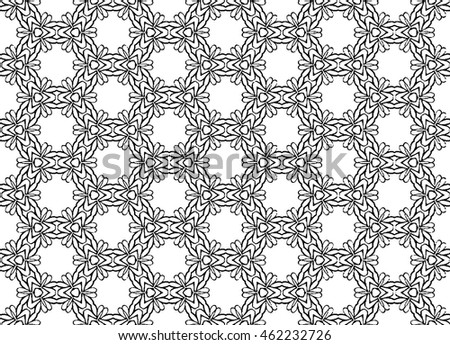 hand draw graphic elements seamless pattern mosaic
