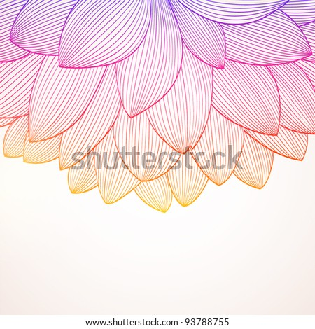 Hand drawing abstract floral background. Vector flower dahlia. Element for design. - stock vector