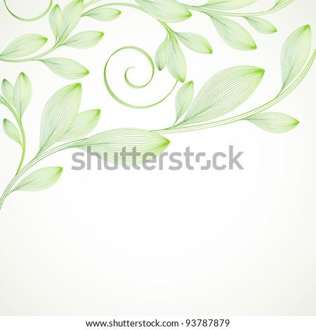 Hand-drawing floral background. Element for design. Vector illustration. - stock vector
