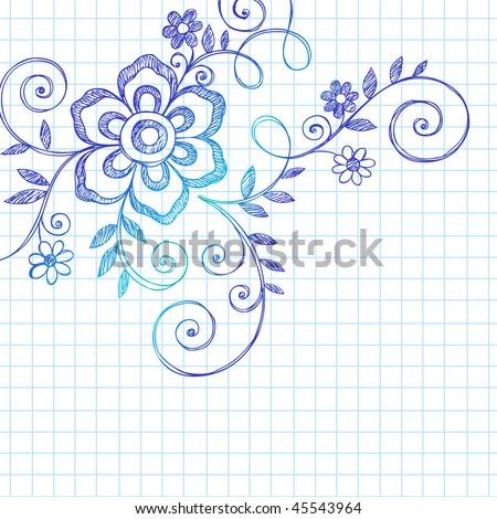 Simple graph paper designs