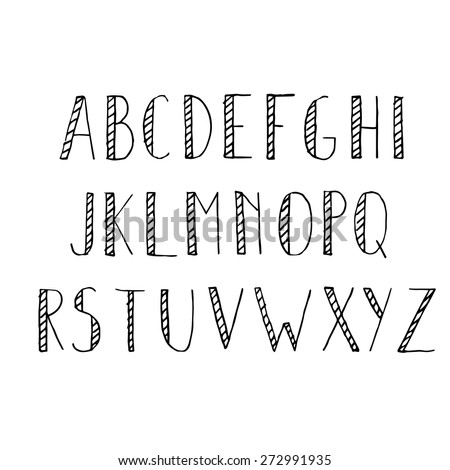 Different fonts of writing alphabets letter