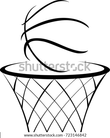 net clipart black and white. hand drawn basketball icon net clipart black and white