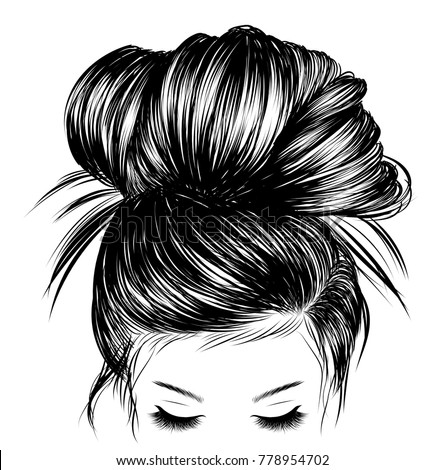 Drawing Short Hair Double Bun Picturesso