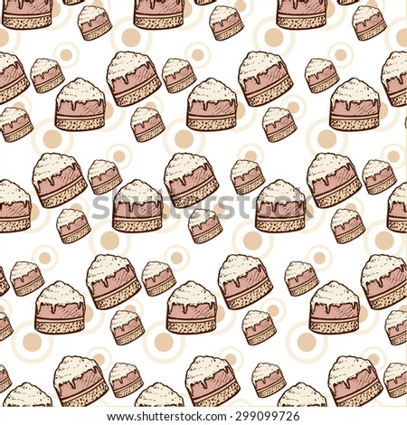 hand drawn birthday doodle seamless pattern. vector illustration