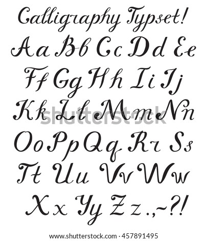 Calligraphy alphabets a to z