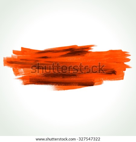Hand drawn brush stroke background. Vector design element. - stock vector