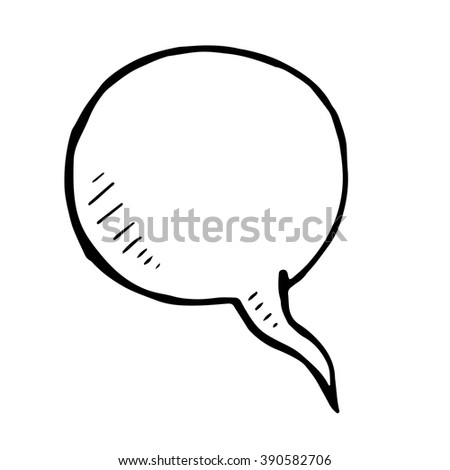 Hand drawn bubble speech, vector doodle isolated element