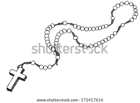 Hand drawn chaplet. Vector illustration. - stock vector