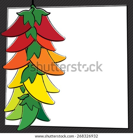 Hand Drawn Chili Pepper in vector format. - stock vector