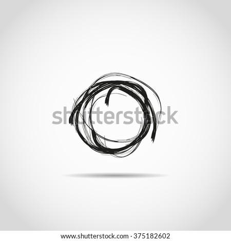 Hand drawn circl. Doodle - stock vector