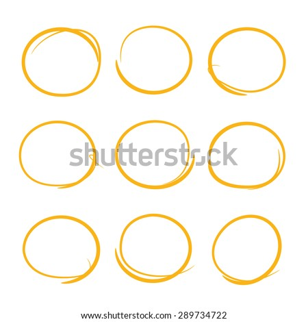 hand drawn circle and bubbles - stock vector