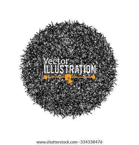 Hand Drawn Circle Banner. Vector Illustration. - stock vector