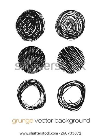 Hand drawn circle banners. Vector illustration. - stock vector