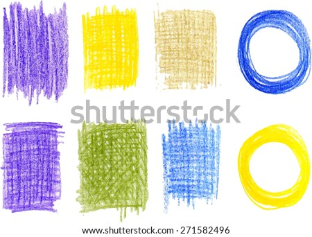 Hand drawn circles and textures. Freehand drawing elements.  Pencil sketch drawing technique. Vector illustration. - stock vector