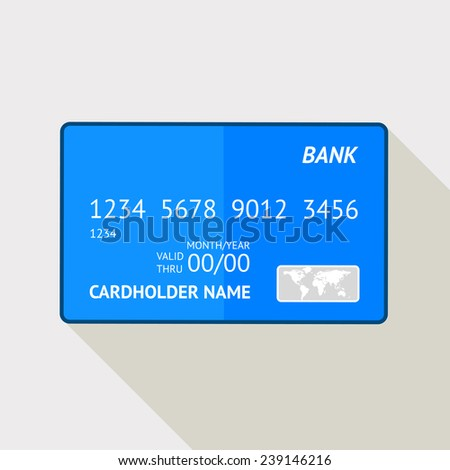 Hand drawn credit card, abstract image
