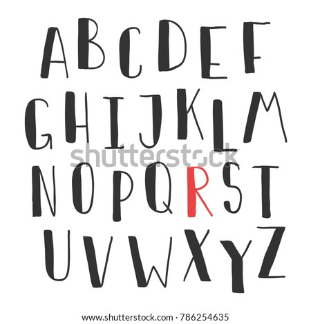 Hand Drawn Cute Font For Your Type Design Posters Greeting Card Website Banners Video Blogs And