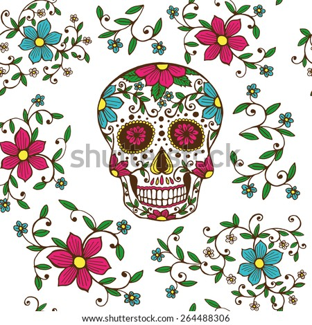 day of the dead stock images, royaltyfree images  vectors, Beautiful flower