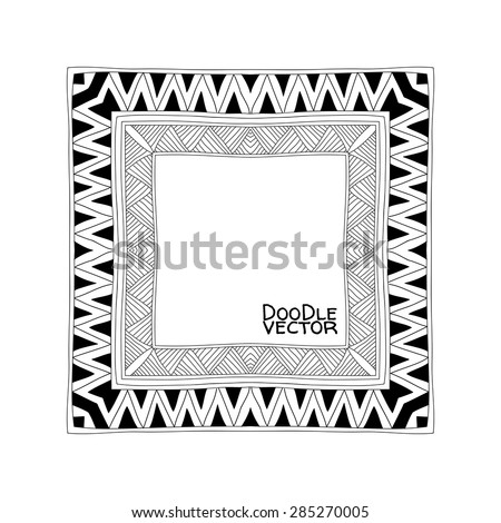 Hand Drawn Doodle Border Frames Vector Stock Vector Royalty Free