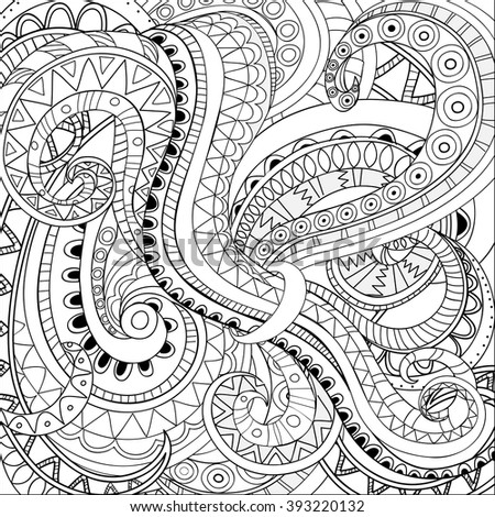 Zen tangle stock photos royalty free images vectors for Background coloring pages