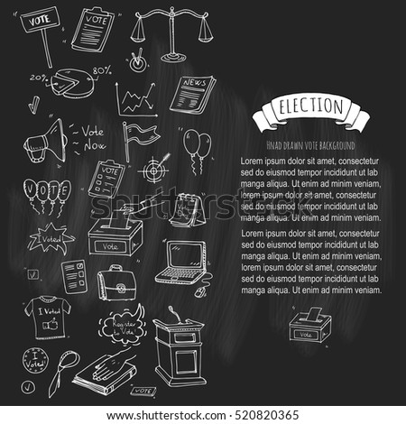 Hand Drawn Doodle Vote Icons Set Stock Vector 520820365 Shutterstock