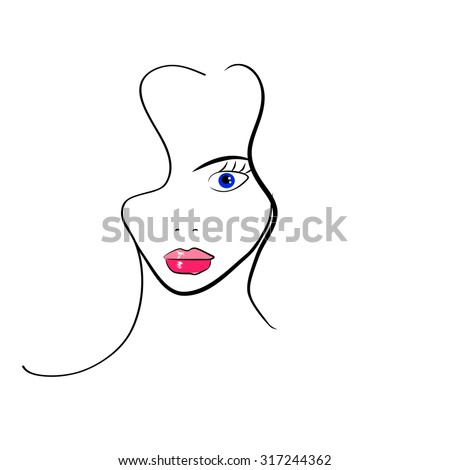 Hand-drawn fashion model - stock vector