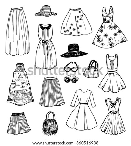 Hand drawn fashion designs 68