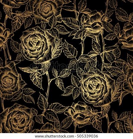 Background Dark Golden Rose Stock Images Royalty Free