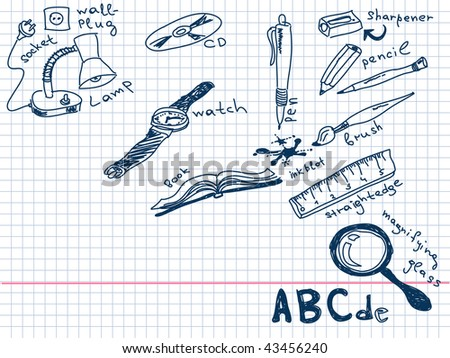 Hand drawn goods Vector. Visit my portfolio for big collection of doodles - stock vector