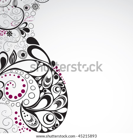 Hand drawn graphic for your design. All elements were placed in clipping mask and are easy to edit. CMYK colors. - stock vector