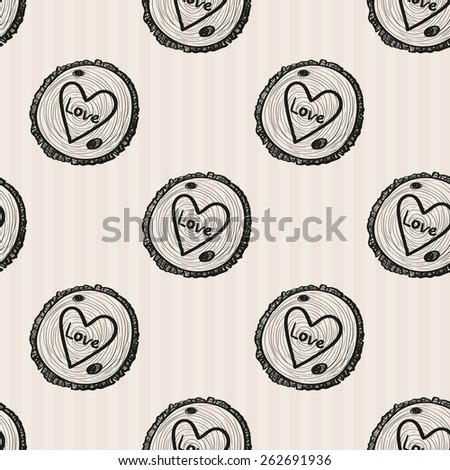 Hand Drawn graphic vintage wood. Set of isolated floral rustic forest wedding decorative symbols and elements. Chess grid order pattern. - stock vector
